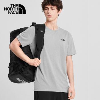 TheNorthFace 北面男款户外吸湿排汗透气快干短袖T恤 灰色4NCRDYX