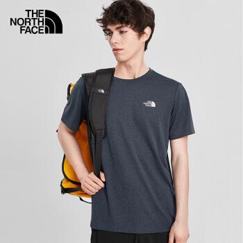 TheNorthFace 北面男款户外吸湿排汗透气快干短袖T恤 蓝色4NCRAVM