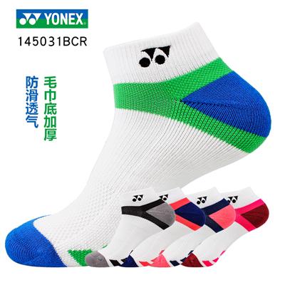 尤尼克斯YONEX 羽毛球短袜 145031BCR男款运动袜/羽毛球袜