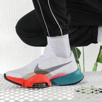 NIKE耐克 男款新品运动鞋缓震透气舒适休闲鞋耐磨跑步鞋 白色/橙红CU6445-178