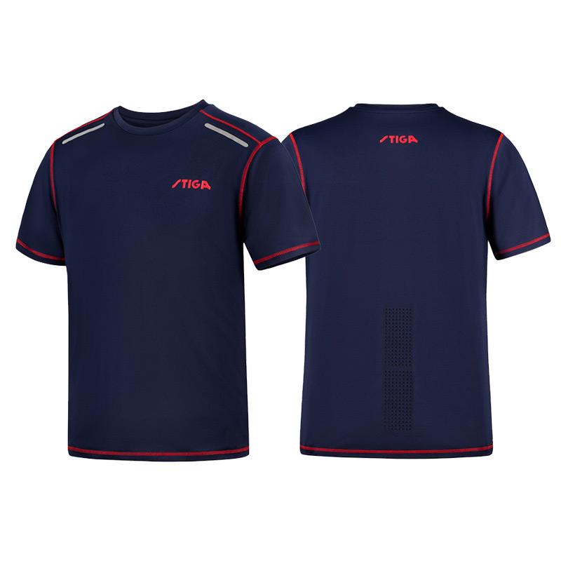 斯帝卡STIGA CA-56122 藏青色 圆领T恤 专业乒乓运动服