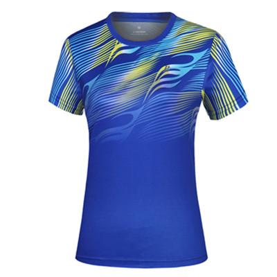 波力Bonny 运动T恤 1CTL19007 女款蓝比赛短袖T恤(流星飞龙,光速超越)