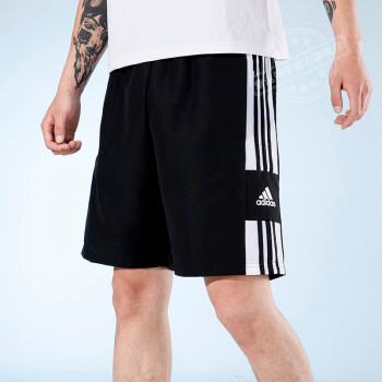 Adidas阿迪达斯男短裤子 2021夏季新款训练篮球裤透气休闲裤黑色速干跑步运动裤舒适五分裤 GK9557