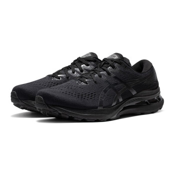 ASICS亚瑟士GEL-KAYANO 28男子跑鞋21新款K28缓震稳定支撑跑步鞋 1011B188-001 黑武士2E加宽