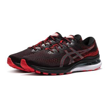 ASICS亚瑟士GEL-KAYANO 28男子跑鞋21新款K28缓震稳定支撑跑步鞋 1011B188-002 黑红色2E