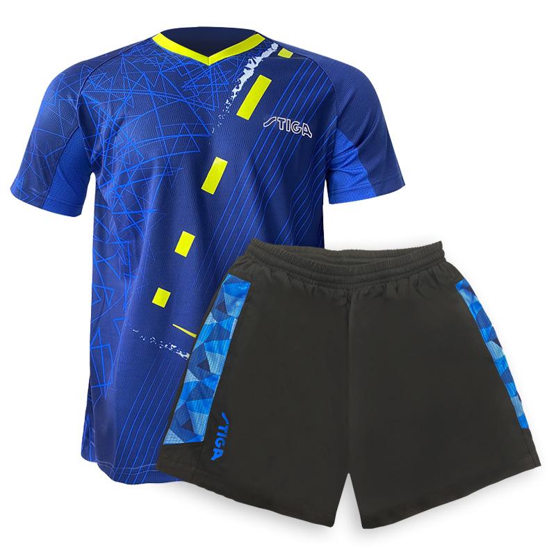 斯帝卡STIGA运动服套装  CA-53122+CA-52161 男女同款夏季运动两件套