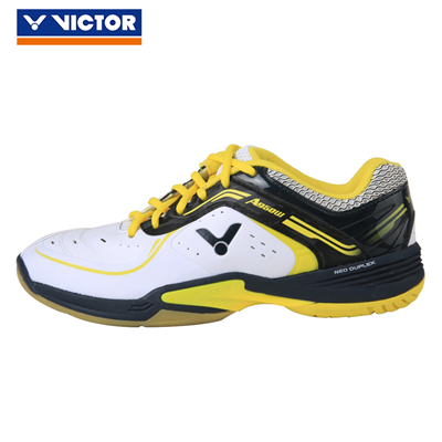 胜利VICTOR羽毛球鞋 A950W-AC 太极 男女同款 宽楦型 耐磨防滑高弹稳定 珠光白/黑/黄