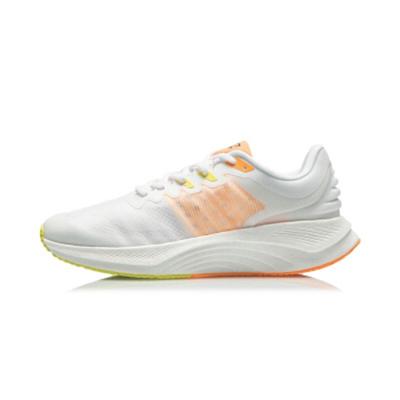 李宁 越影减震保护跑步鞋男子网面透气轻便稳定支撑运动鞋 ARHR127-1标准白
