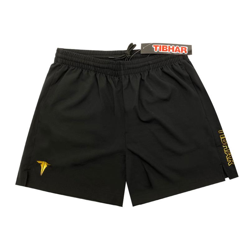 挺拔TIBHAR TB-9 非凡系列黑金色乒乓球运动短裤
