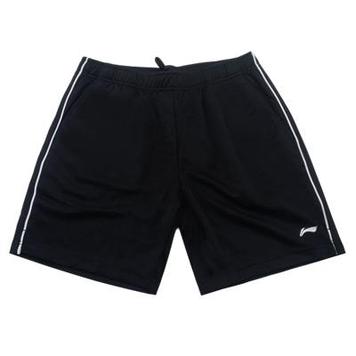 李宁 男士羽毛球短裤  AAPR381-1 黑色