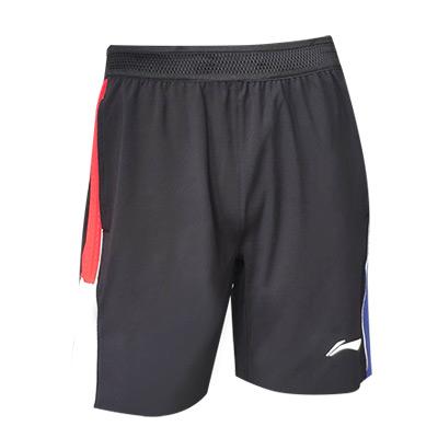 李宁 男士羽毛球短裤  AAPR373-3 黑色