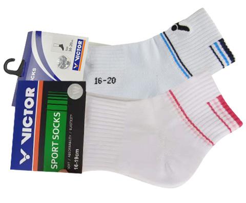 VICTOR胜利 儿童羽毛球袜专业儿童运动袜SK020F蓝、SK020Q玫红