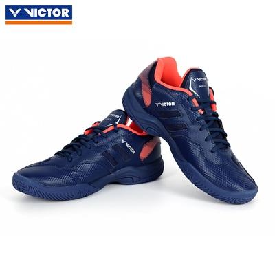 【到手价279元】VICTOR威克多胜利羽毛球鞋 SH-A362II(A362二代)藏青/珊瑚红 防滑耐磨透气男女款训练鞋