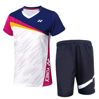 YONEX尤尼克斯羽毛球套装 110381藏青+120201黑 男士羽毛球比赛训练套装 速干透气 干爽舒适
