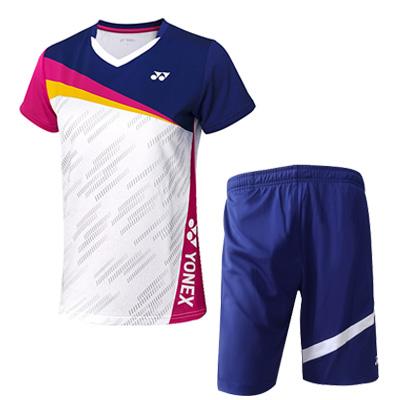YONEX尤尼克斯羽毛球套装 110381藏青+120201藏青 男士羽毛球比赛训练套装 速干透气 干爽舒适