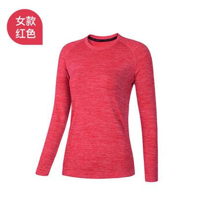 UTO悠途炫系列定制款女士运动长袖户外运动长袖T恤速干衣排汗快干上衣 红色