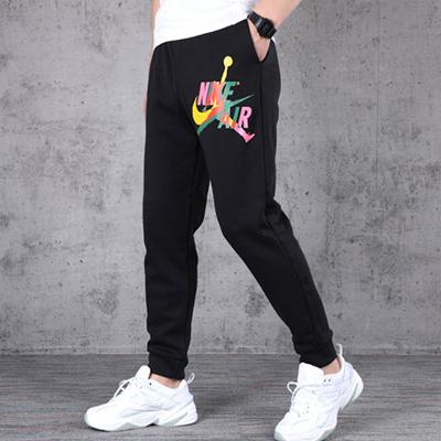 NIKE耐克男裤AIR JORDAN针织训练运动休闲裤加绒长裤彩色logo印花 CU1559-011