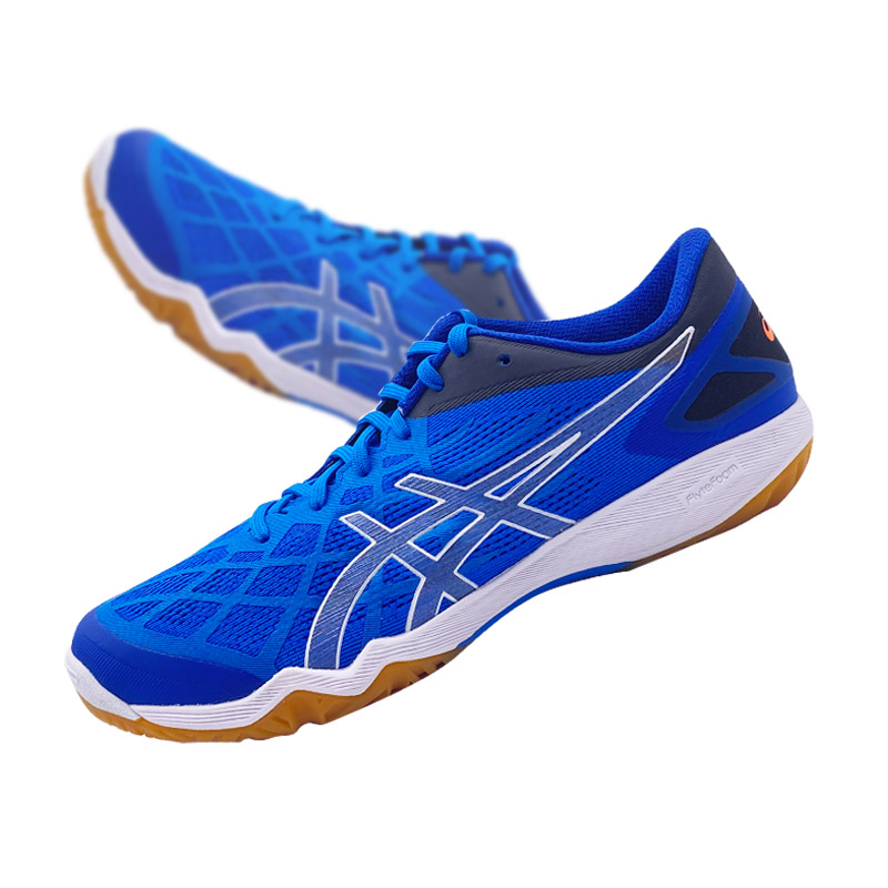 【东京奥运会刘诗雯战靴】ASICS亚瑟士 乒乓球鞋男鞋专业防滑运动鞋 1073A010-400 深蓝色